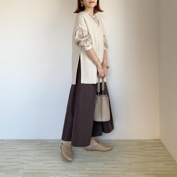 GUの「秋色スカート」は購入した?下半身をほっそり見せてくれるシルエットが人気の注目アイテムをご紹介