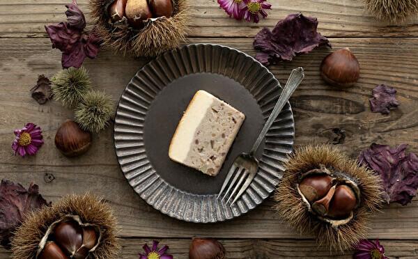 秋の実りがつまったマロンとかぼちゃが仲間入り。チーズテリーヌ専門店「h.u.g-flower」は美断面も魅力です