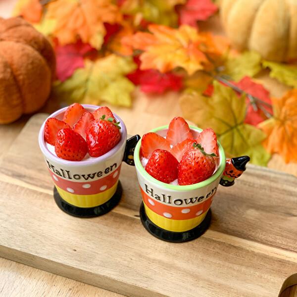"""濃厚かぼちゃとのコラボは10月限定のお楽しみ。ICHIBIKOはハロウィンもブレない""""いちごづくし""""です"""