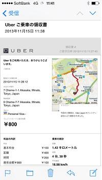 Uber領収書メール