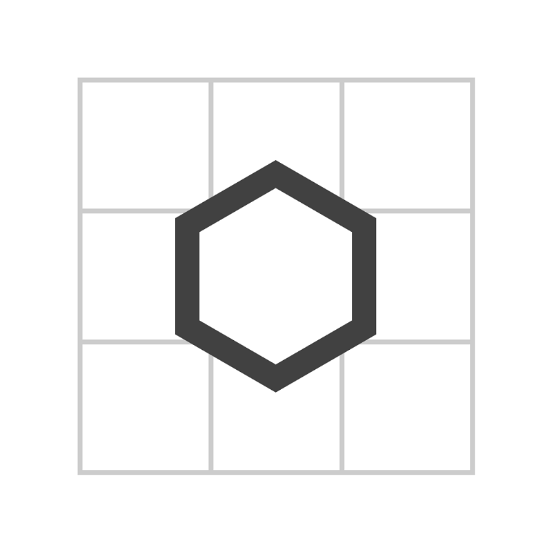 Ninihex: 同じ色で挟むパズル
