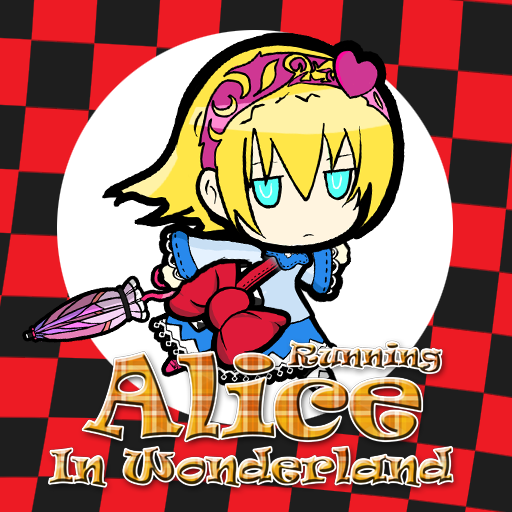 Alice Running In Wonderland