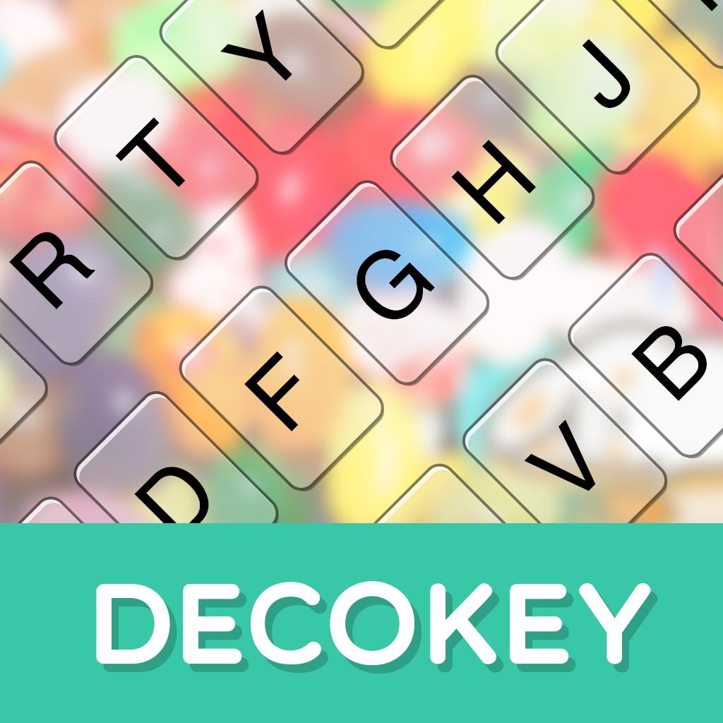 DECOKEY【デコキー】-背景・ボタン・フォントが変えれる日本語・英語&顔文字・絵文字入力の着せ替えキーボード