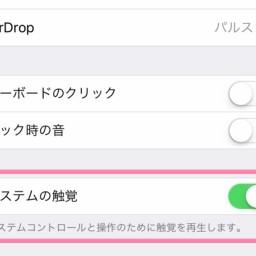 【iOS 10】iPhone 7/7 Plusで、画面の操作時に振動する機能をオフにする