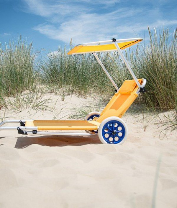 Lemon Sun Lounger Trolley