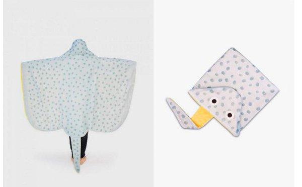 Stingray Hooded Adult Towel